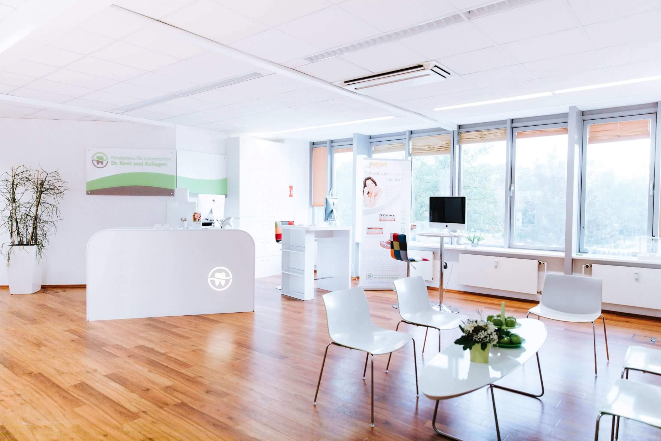 Wartezimmer - Privatpraxis Zahnarzt Bochum - Dr. Kent & Kollegen