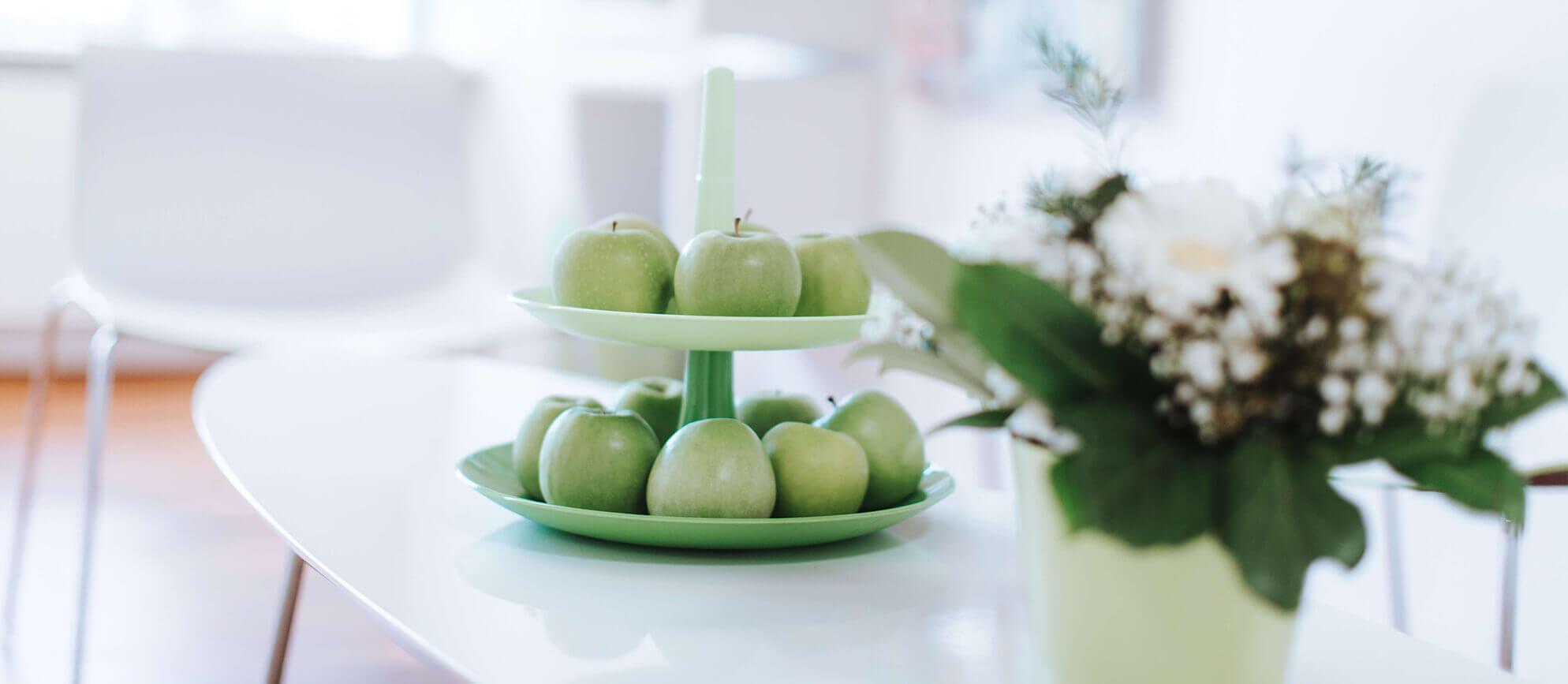 Bild mit Äpfeln
